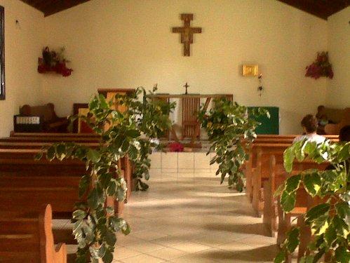 A Igreja de Santo André hoje, antes da missa.